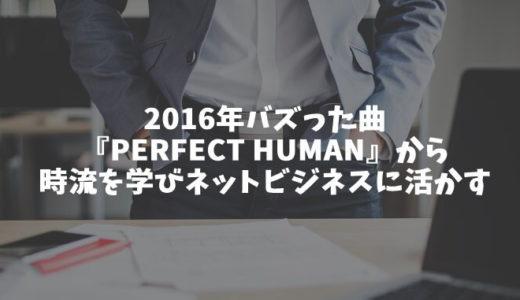 2016年バズった曲『PERFECT HUMAN』から時流を学びネットビジネスに活かす